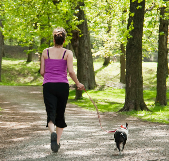 Jogging with pet